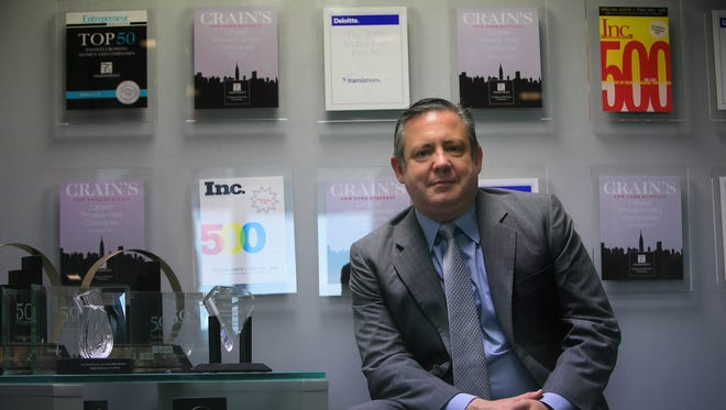 TransPerfect CEO Phil Shawe at the company's headquarters on Park Avenue in New York.
