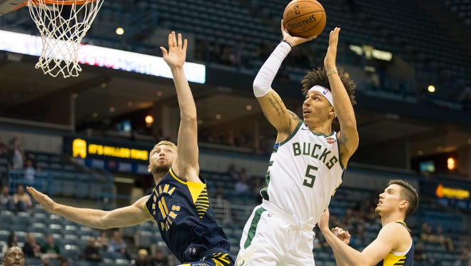 D.J. Wilson, the 17th draft pick, has played just 74 seconds in the Bucks' first five regular-season games.
