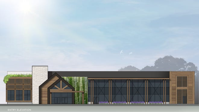 An artist's rendering of the expansion of the Lawrence and Idell Weisberg Cancer Treatment Center in Farmington Hills.