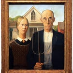 Grant Wood's 'American Gothic' on exhibit at the Des Moines Art Center.