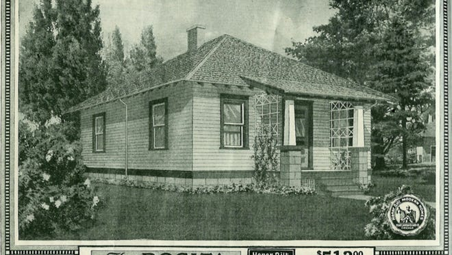 """This undated photo provided by Sears shows a catalog page offering, """"The Rosita,"""" a Sears home which could be bought out of the Sears catalog circa 1918."""