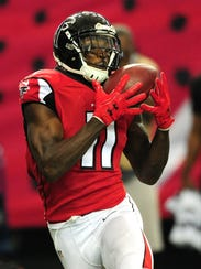 Julio Jones, estrella de los Falcons.