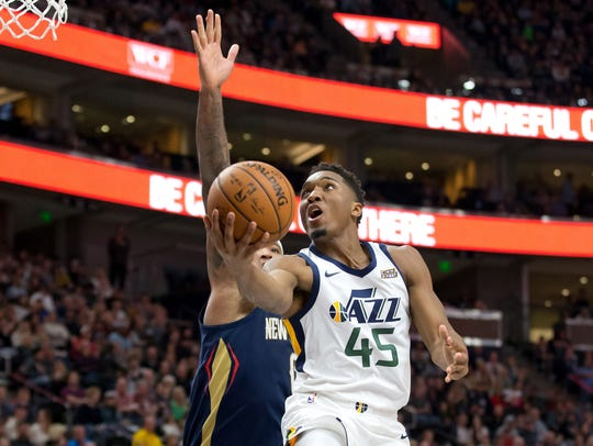 Dec 1, 2017; Salt Lake City, UT, USA; Utah Jazz guard