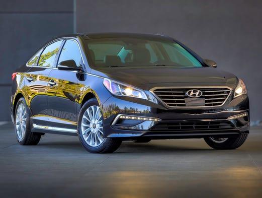 Redesigned 2015 Hyundai Sonata.