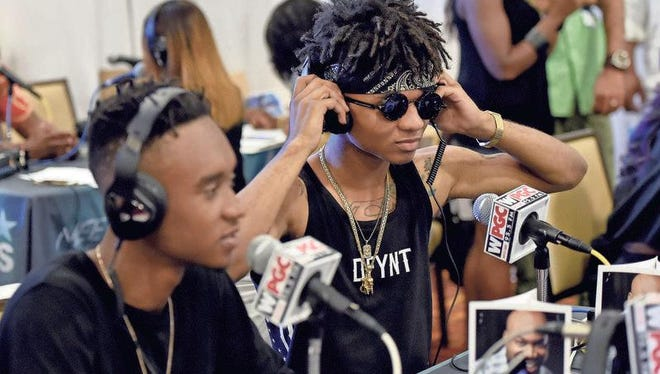 Rappers and Tupelo natives Slim Jimmy, left, and Swae Lee of Rae Sremmurd organized Tupelo's first hip-hop fest.