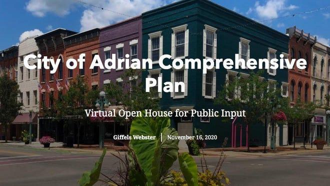 Public input is sought for a survey regarding the city of Adrian's comprehensive plan.