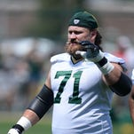 Green Bay Packers offensive lineman Josh Sitton during Organized Team Activities at Clarke Hinkle Field May 28, 2015.