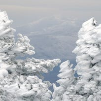 Sheri Larsen too this photo from the top of Camels Hump last Sunday, looking a frozen trees and snow-covered Mt. Mansfield in the distance. Share your Vermont Beauty photos at facebook.com/bfpnews or photo@burlingtonfreepress.com.