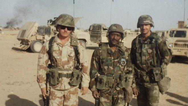 U.S. Army Desert Storm veteran Jason Laber and family.