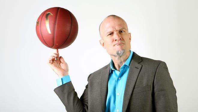 Gregg Doyel, Indianapolis Star sports columnist.  Photo shot Wednesday October 16, 2014. The Enquirer/ Cara Owsley.
