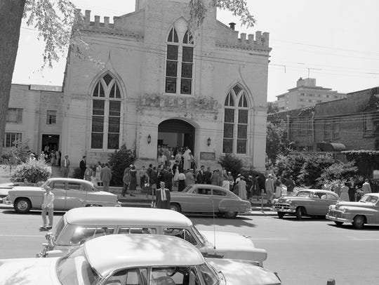 First Presbyterian Church Montgomery in 1956