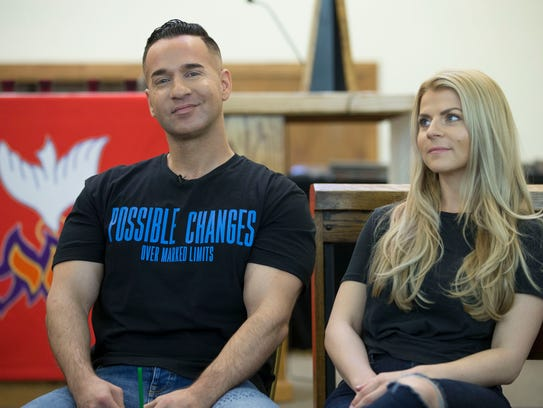 """Mike with his fiancé Lauren Pesce. Mike """"The Situation"""""""