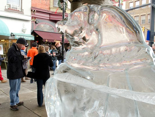Chowder and Ice Sculptures on The Commons