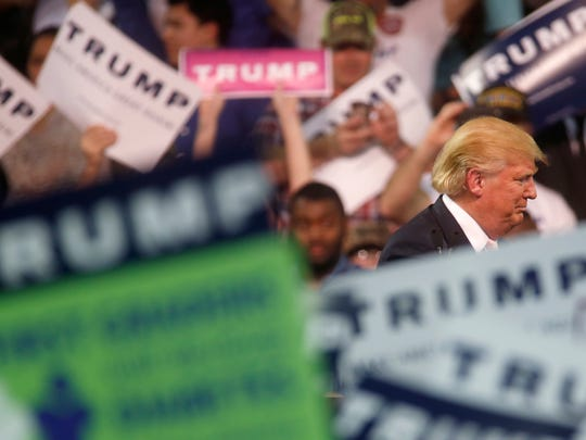 Presidential Hopeful Donald Trump holds a rally with more than 5,000 attendees at the Valdosta State University Complex Monday, Feb. 29, 2016. (6)