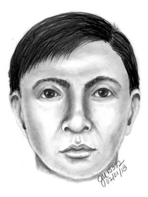 This is a sketch of a man Apache Junction police said assaulted a woman in a desert area.