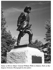 Statue of Civil War Gen. William Wells in Burlington's