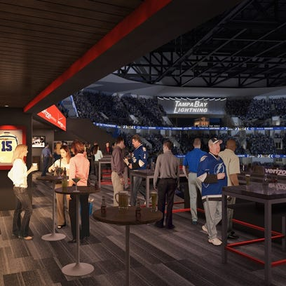 A rendering of an expanded club-level loft which will