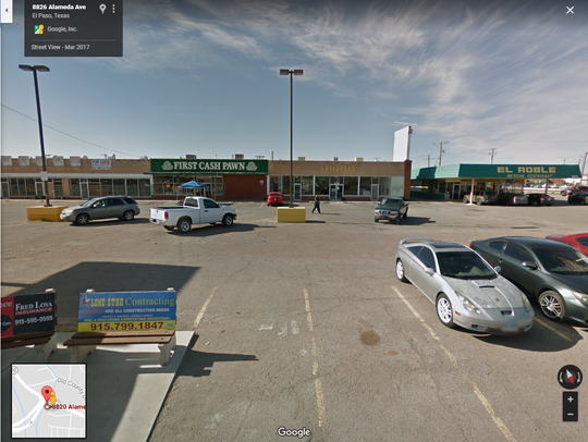This shopping center at 8820 Alameda Ave. is proposed