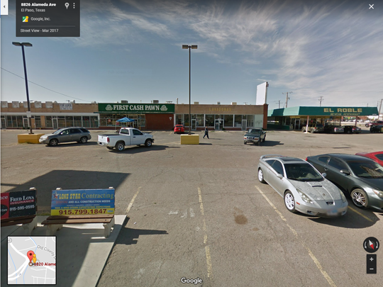 "This shopping center at 8820 Alameda Ave. is proposed to be sold in William ""Billy"" Abraham's bankruptcy case."