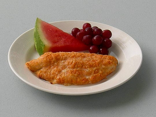 Catfish or orange roughy fillets work great in Baked