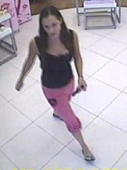 Police say this woman distracted employees at a supply