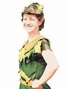 Claudia Adamson as Peter Pan.