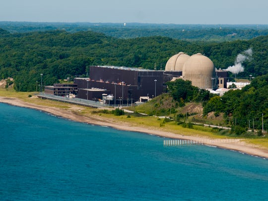 The Donald C. Cook Nuclear Power Plant near Bridgman, on the shores of Lake Michigan, is the largest withdrawer of water in the state of Michigan, at 765.42 billion gallons per year. The vast majority of the water uses by the plant for cooling is returned to the lake.