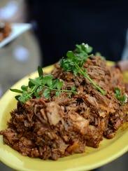 A platter of pulled pork.