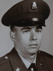 Richard Budrow is pictured in his United State Army