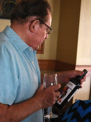 Bud Palmer takes a second look at the bottle of Tempranillo.