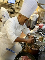 Chef Shawn Loving on day four of the American Culinary