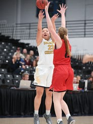 Colorado Christian University forward Sara McGinley