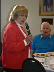 Collier County Commissioner Donna Fiala addresses the