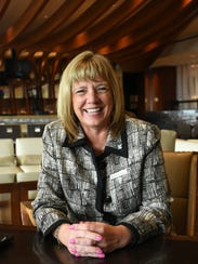 Sharon Lockwood in Korals, the Marriott's lobby bar.