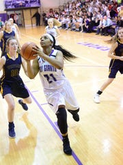 Ahlia Simms played in her final home game Thursday for Fremont Ross.