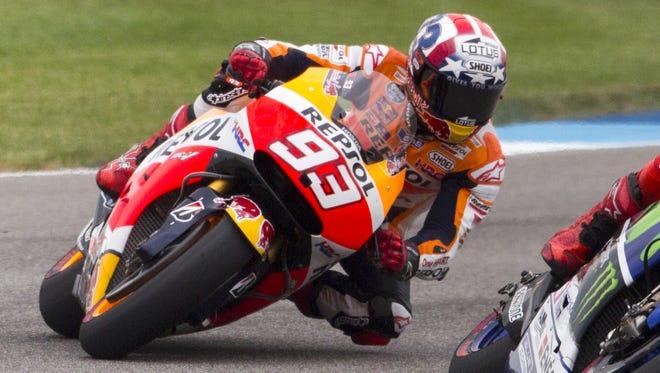Marc Marquez dominated recent MotoGP races at Indianapolis Motor Speedway.
