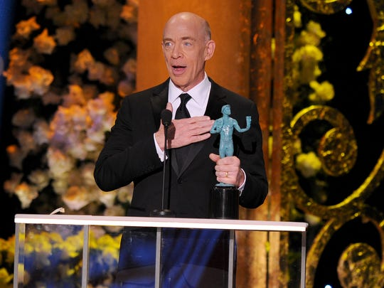 J.K. Simmons accepts the SAG award for outstanding