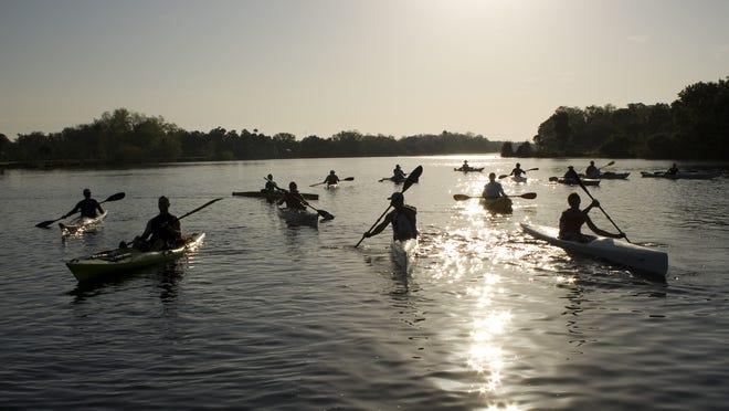 A kayak tour on Estero Bay