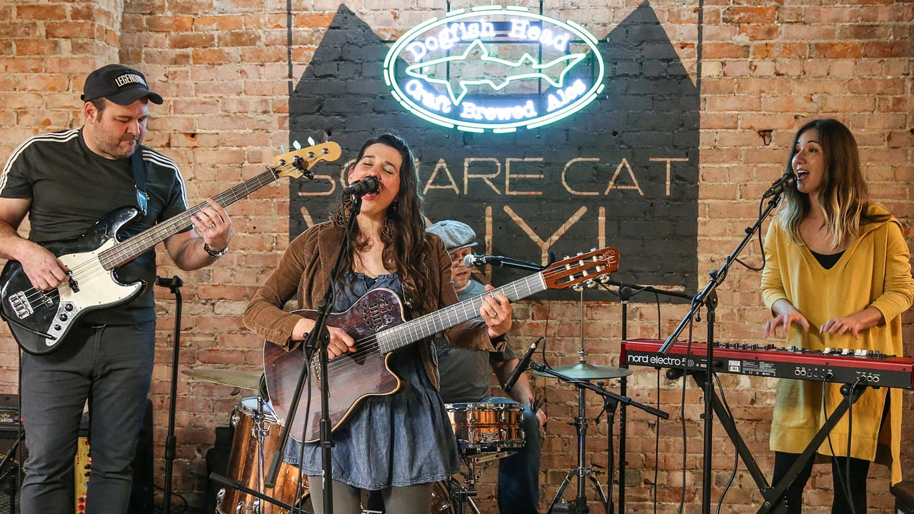 """Sarah Grain & the Billions of Stars perform """"Something Wild"""" on the March 1, 2018, episode of """"Dogfish Head Brewery presents IndyStar Sessions at Square Cat Vinyl."""""""