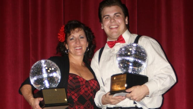 Delsea Regional High School Dancing with the Staff champions Sue Coppola and Tommy Conroy.