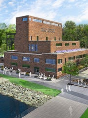 An artist's rendering of a proposed redeveloped for