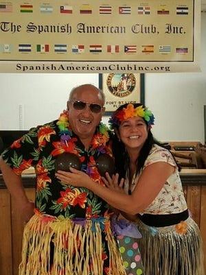 Best luau dresses winners: Johnny Borras (left) and Maria Allean
