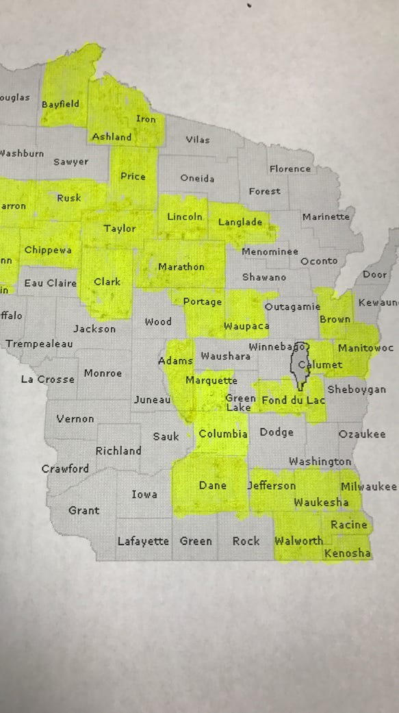 With the addition of Columbia and Marquette counties,