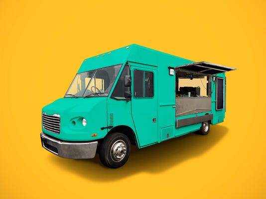 Stock Image - Generic Food Truck