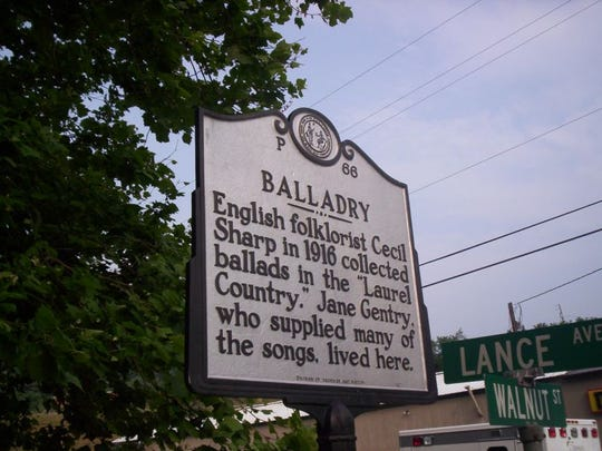 A North Carolina historical marker in Hot Springs commemorates