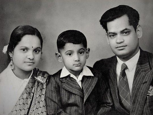 The author, as a child, with his parents