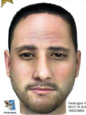 Composite sketch of a man authorities suspect in two sexual batteries in Golden Gate