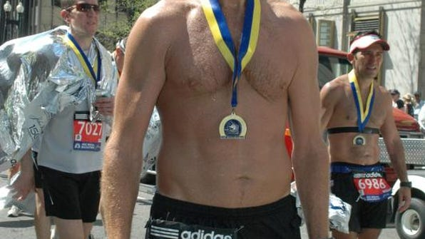 Clarion-Ledger blogger David Shumate poses following the Boston Marathon.