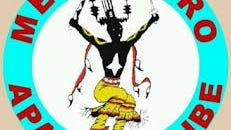 The Mescalero Apache Tribe logo features a spirit dancer.