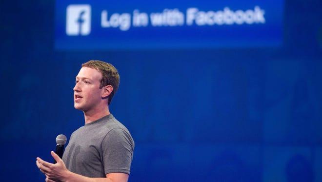Facebook CEO Mark Zuckerberg speaks at the F8 summit in San Francisco, California. Facebook in March 2015.